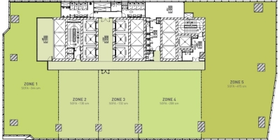 High Zone Floor Plan (Multi-Tenant)
