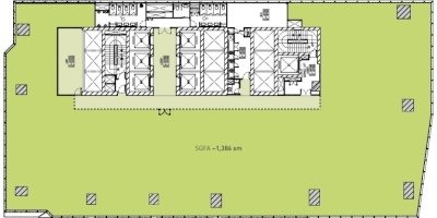 High Zone Floor Plan (Single Tenant)