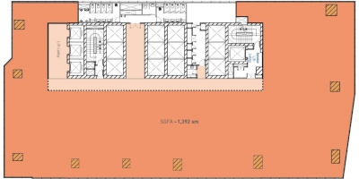 Middle Zone Floor Plan (Single Tenant)